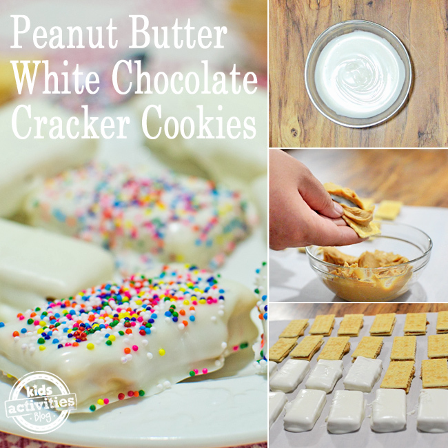 Peanut Butter White Chocolate Cracker Cookies
