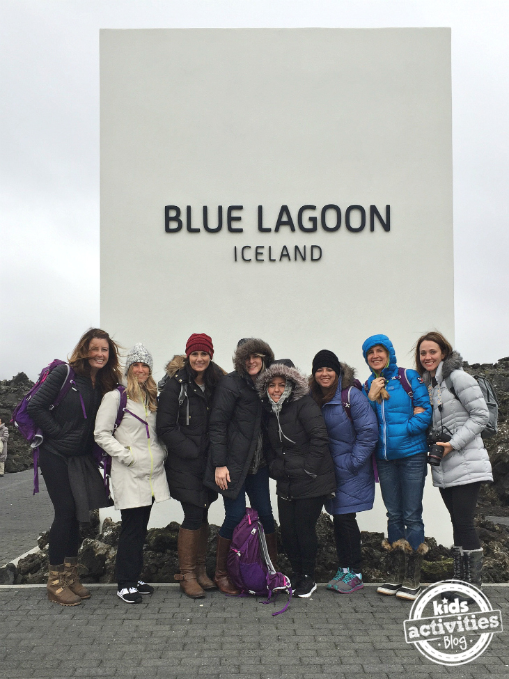 The #AdventureStartsWithMe ladies at the Blue Lagoon in Iceland