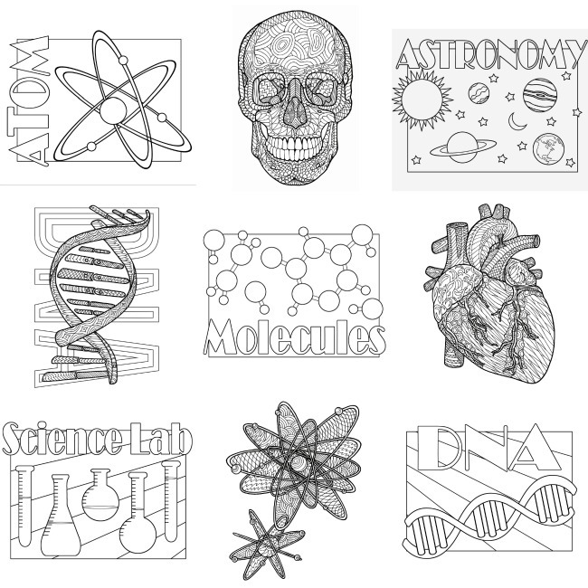 Exclusive Science Coloring Pages
