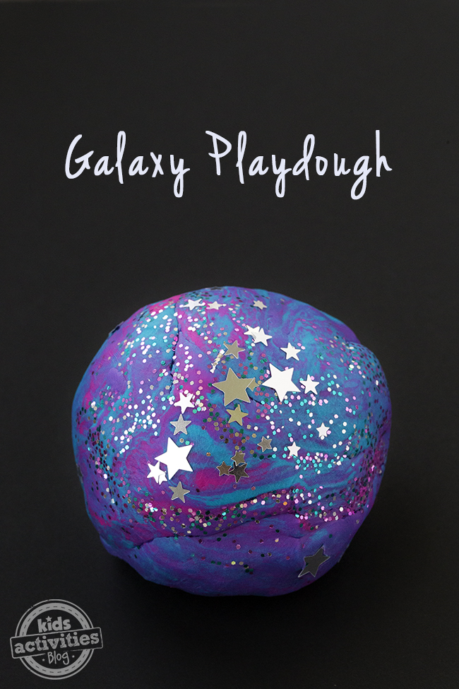 Awesome Galaxy Play-dog is perfect for kids! The pretty blues, pinks and purples with silver sparkles is mesmerizing.