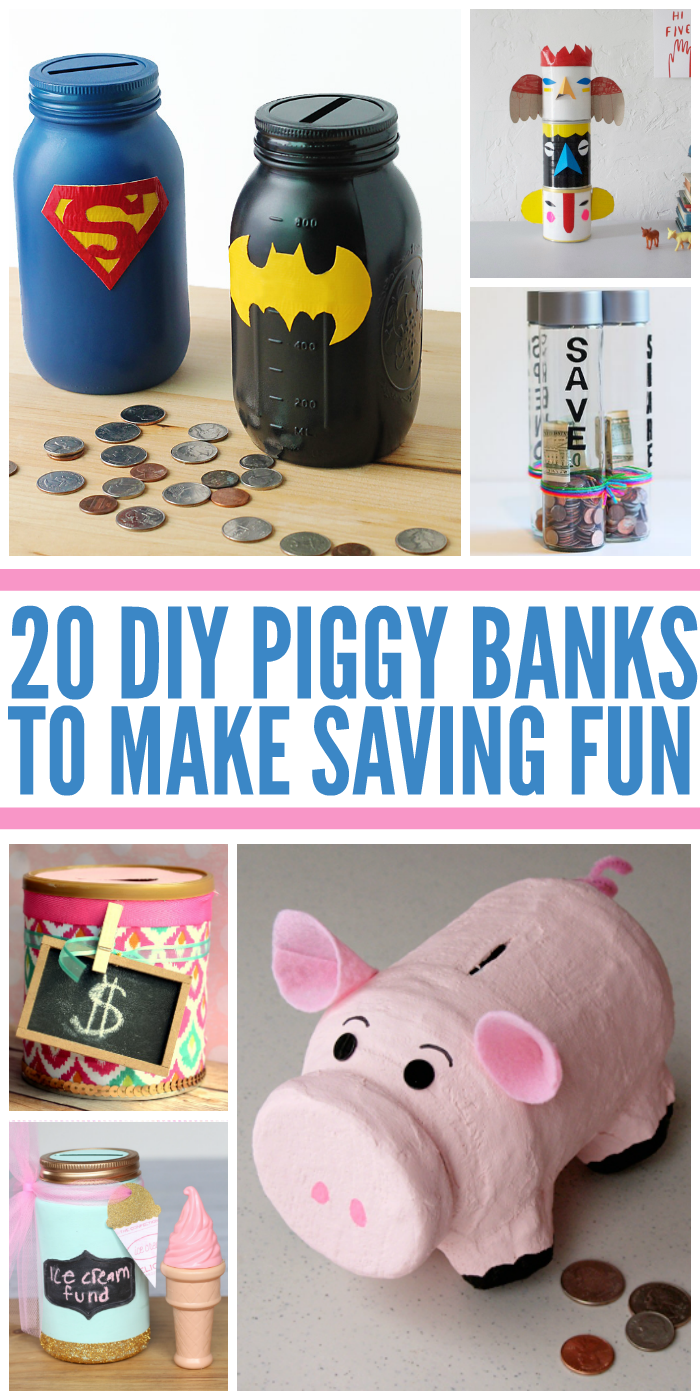 20 Piggy banks for kids to make savings fun