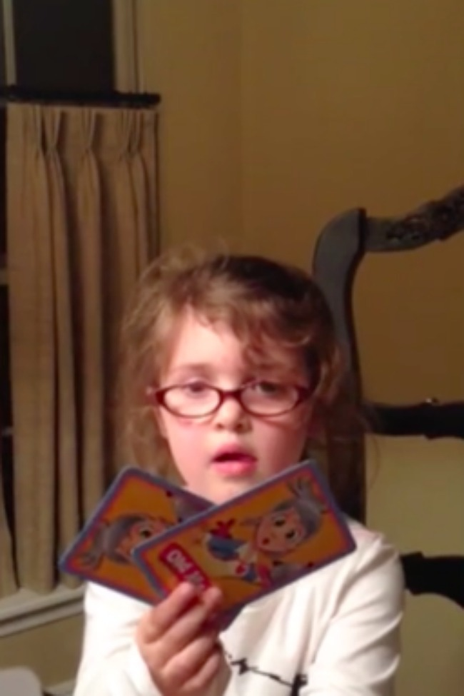 This Card-Playing Little Girl Tries To Trick Her Dad To Win