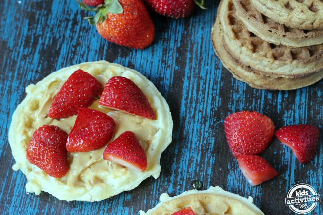 Breakfast Almond Butter Waffles