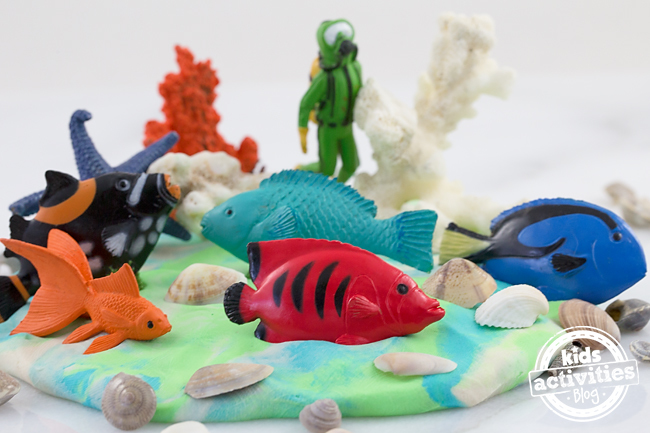 Under the Sea Playdough is perfect for summer!