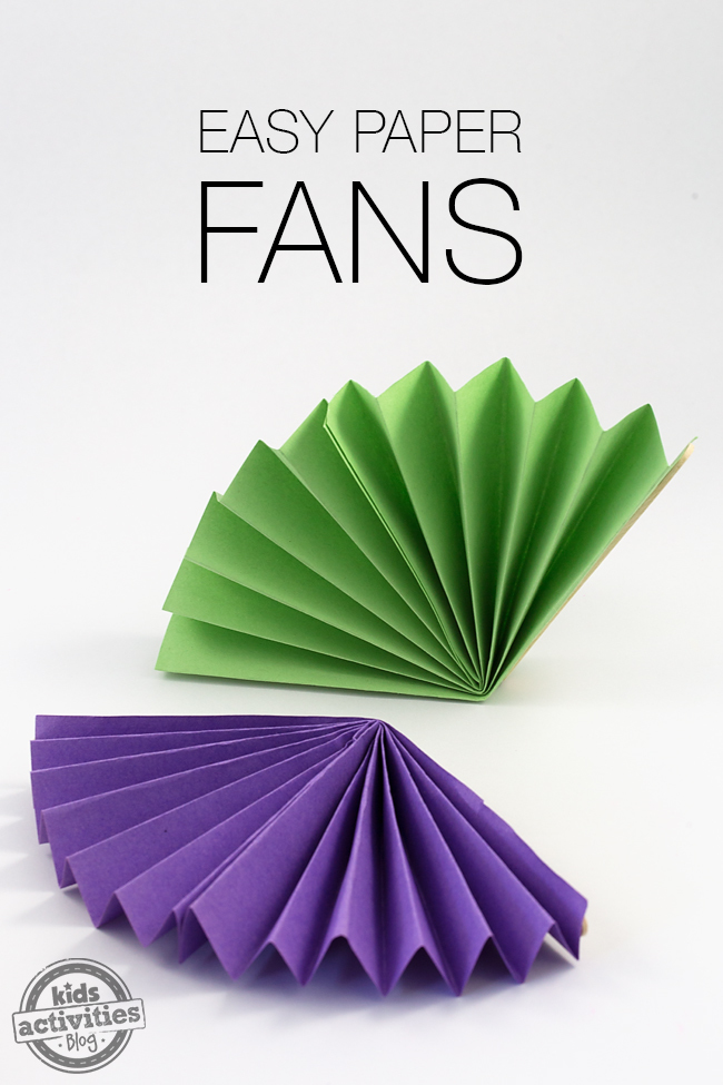 The hot days of summer are upon us! Kids will love keeping cool with colorful Easy Paper Fans that they made themselves.
