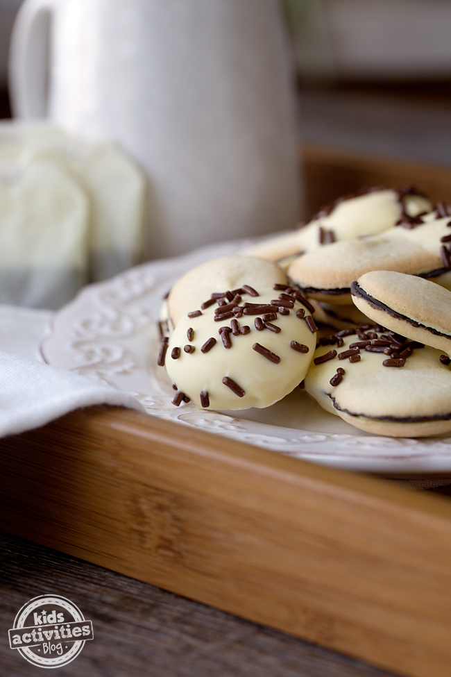 Lemon Dipped Milano Cookies