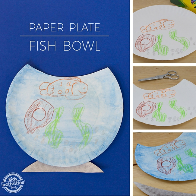 Paper Plate Fishbowl Craft