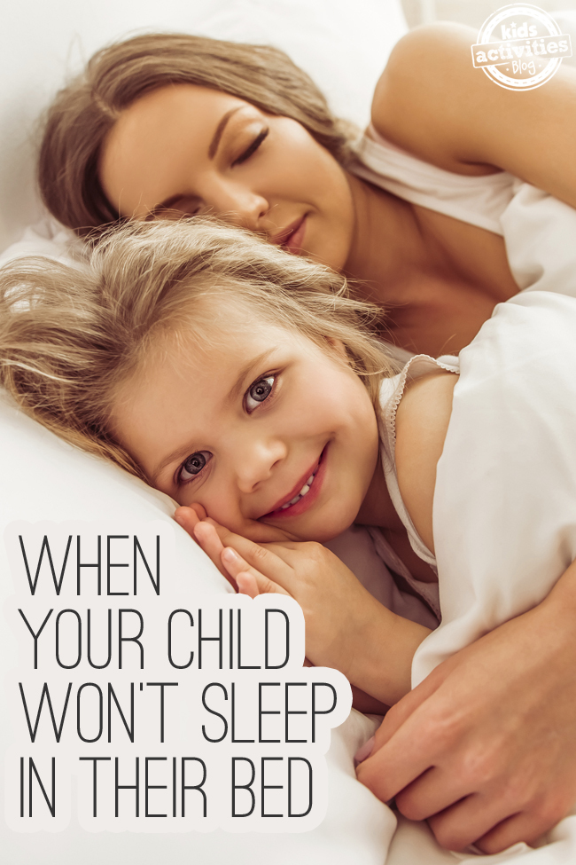 What To Do When Your Child Won't Sleep in Their Bed