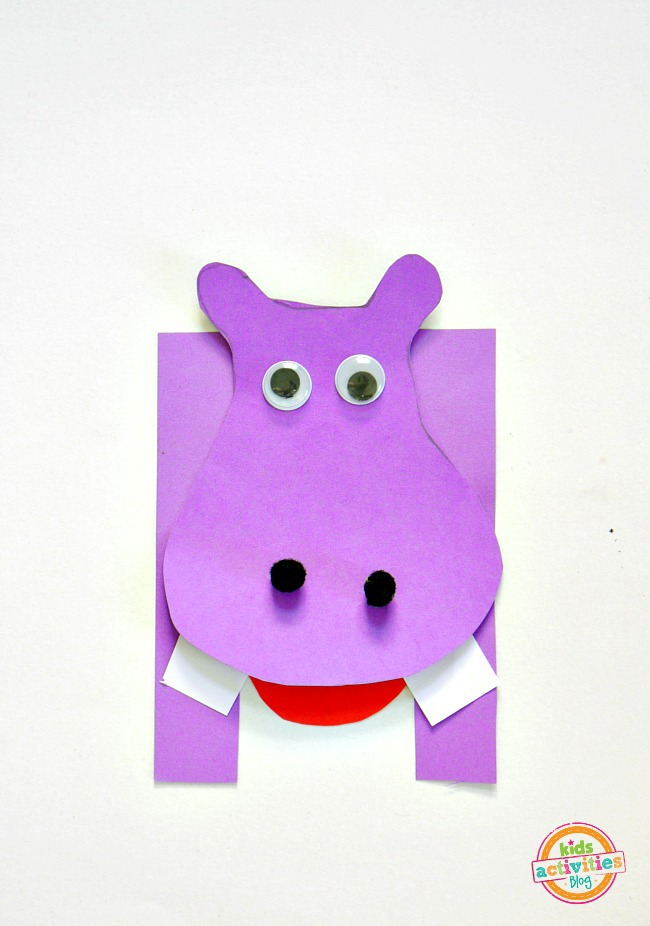 H is for Hippo. Letter H craft