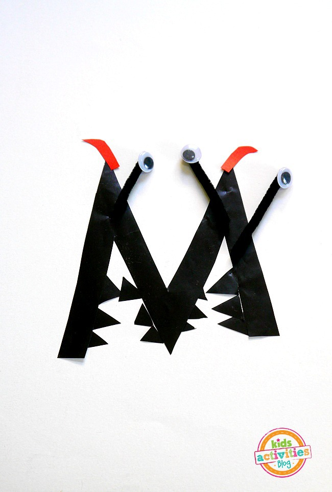 M Is For Monster. Letter M Craft