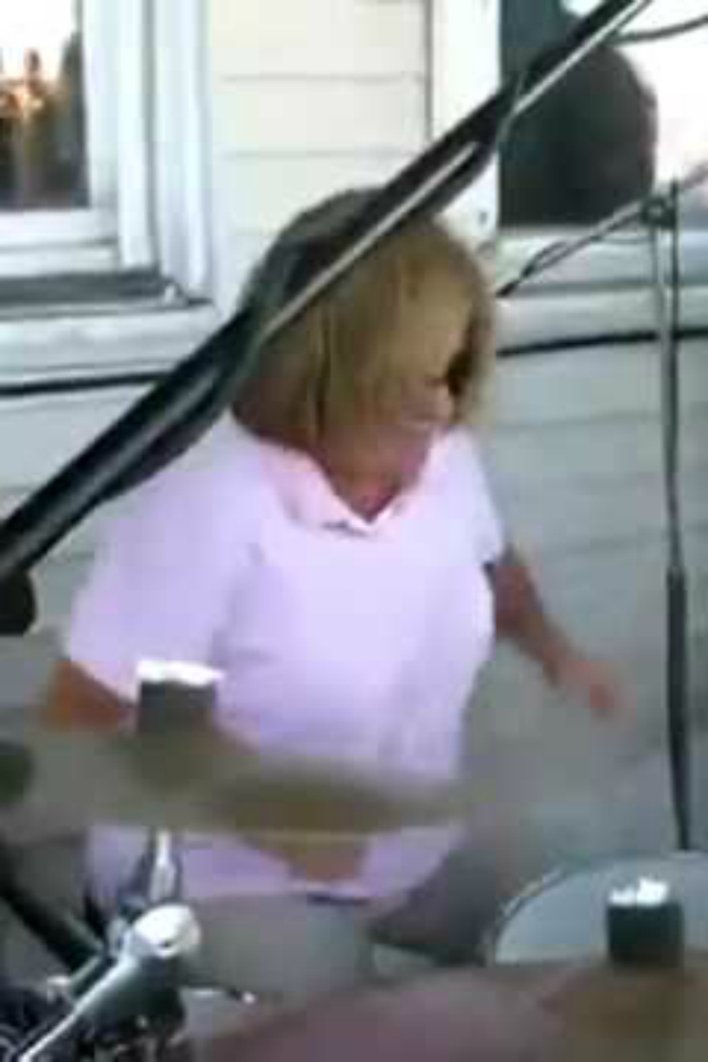 mom playing drums
