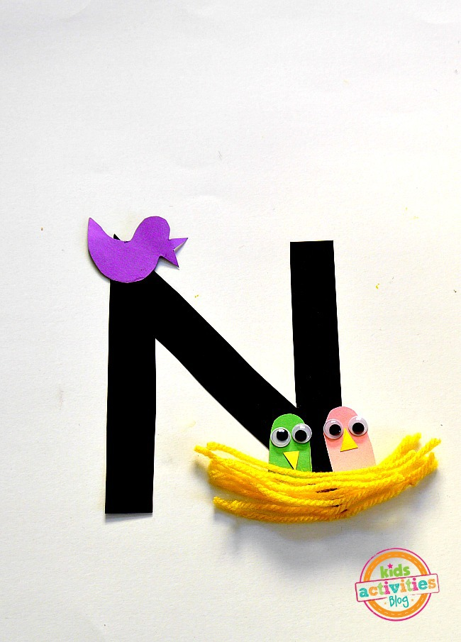 N Is For Nest — Letter N Craft