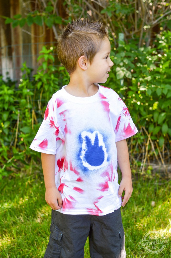 Make Red White & Blue 4th of July Tie Dye T-Shirts
