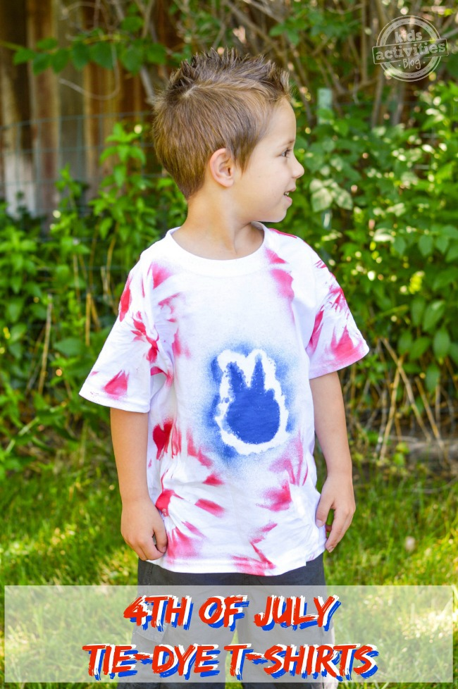 4th of July Tie-Dye T-Shirts
