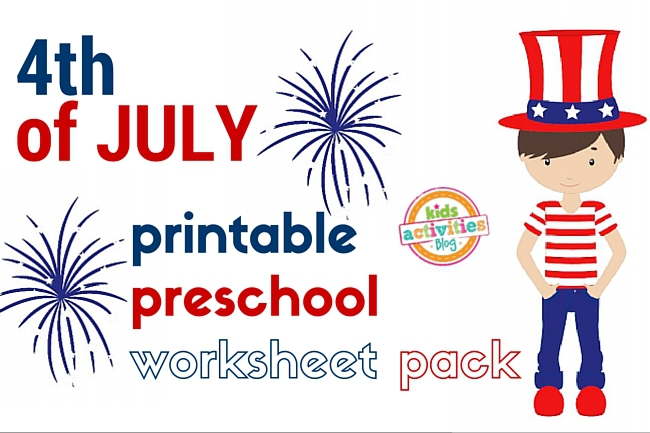 4th of July Printable Preschool Worksheet