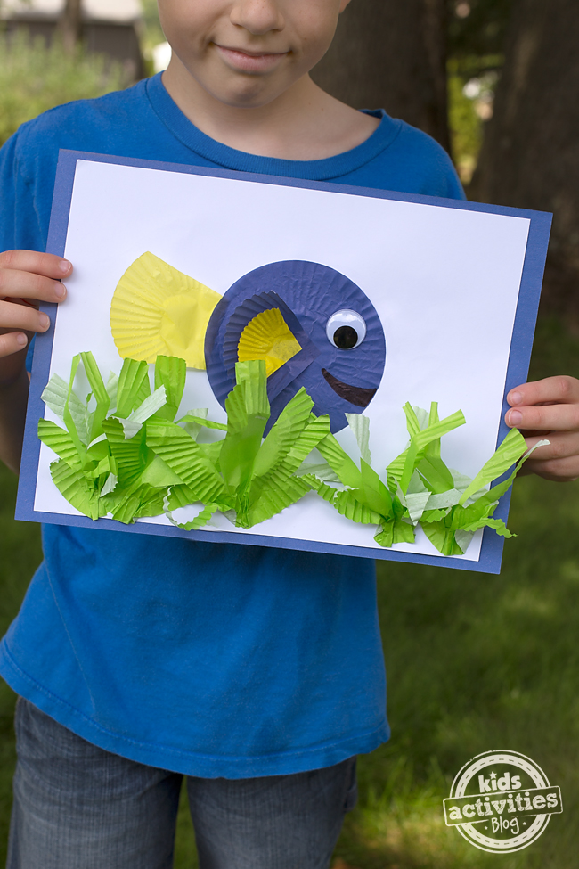 Finding Dory Cupcake Liner Craft