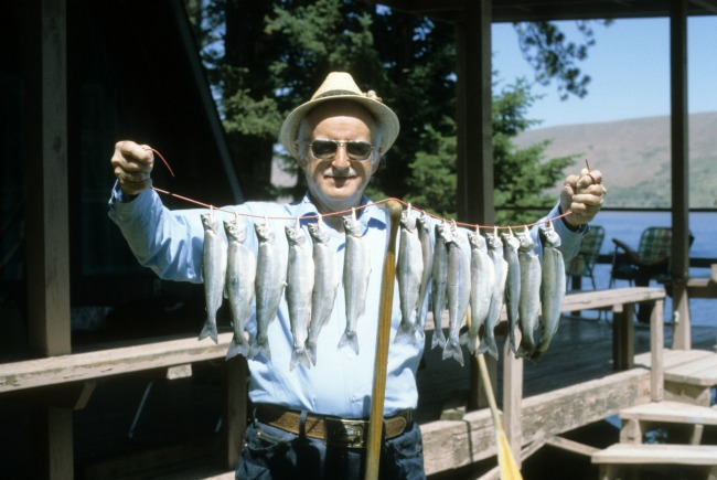 Grandpa fishing