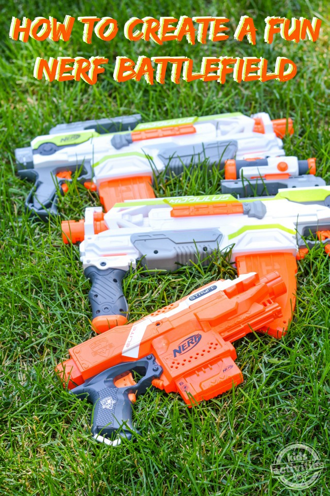 How to create a NERF battlefield to make your NERF wars epic, then clean up with the NERF dart vacuum.
