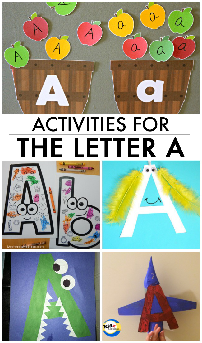 12 Letter A Crafts & Activities