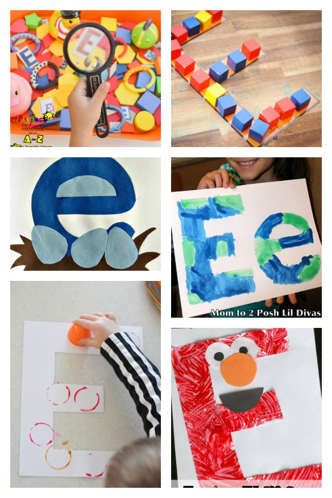 12 Easy Letter E Crafts & Activities
