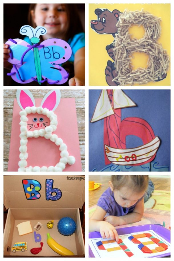 teaching the letter b through preschool craft and activities