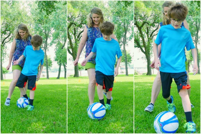 Playing soccer together