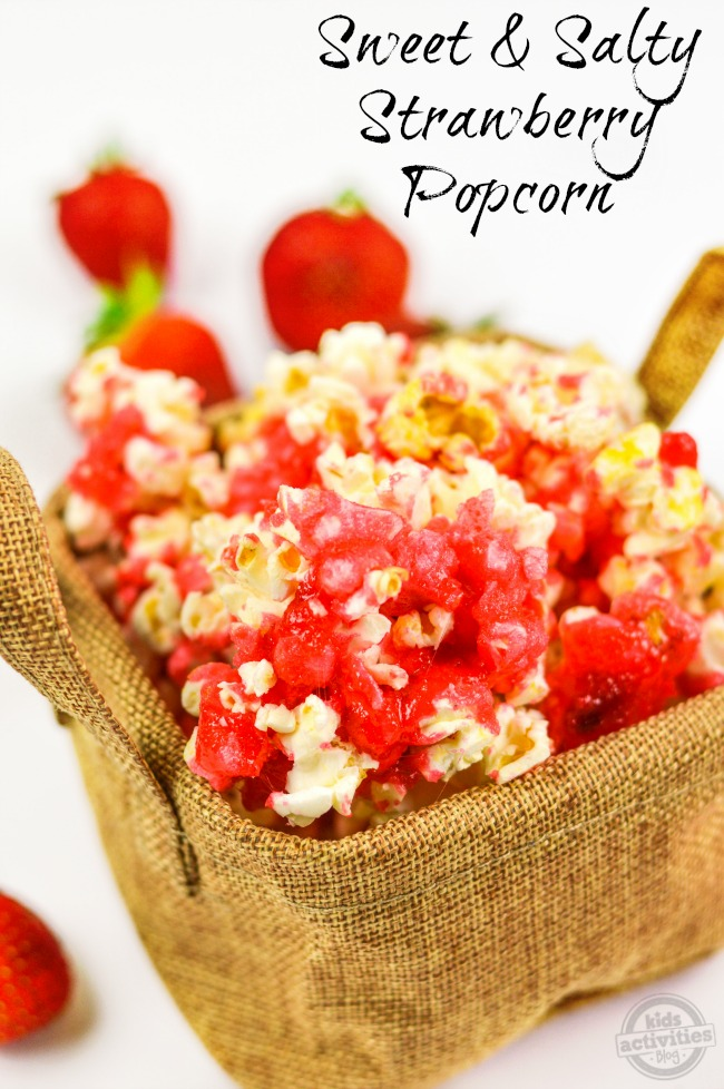 Sweet & Salty Strawberry Popcorn