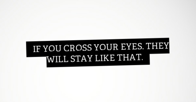 cross your eyes