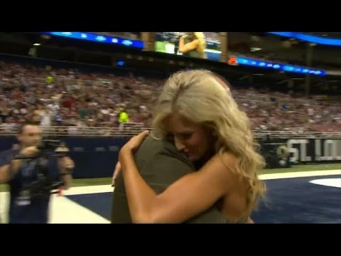 This NFL Cheerleader Received The Surprise Of Her Life