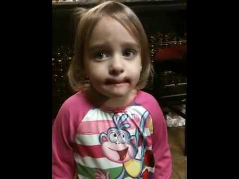 Toddler Tries To Convince Mom She's Not Wearing Her Makeup