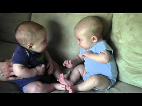 It Took Eleven Weeks Before These Twin Boys Noticed Each Other