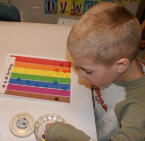 Using M&Ms to Graph with your Preschooler