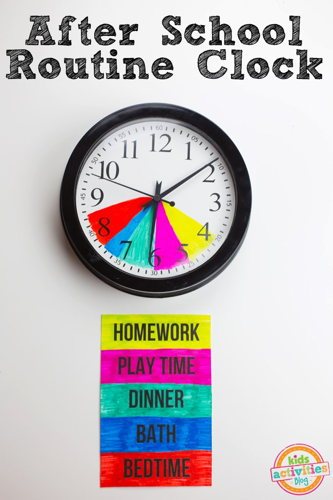 This After School Routine Clock will Help Kids to Stay on Schedule!