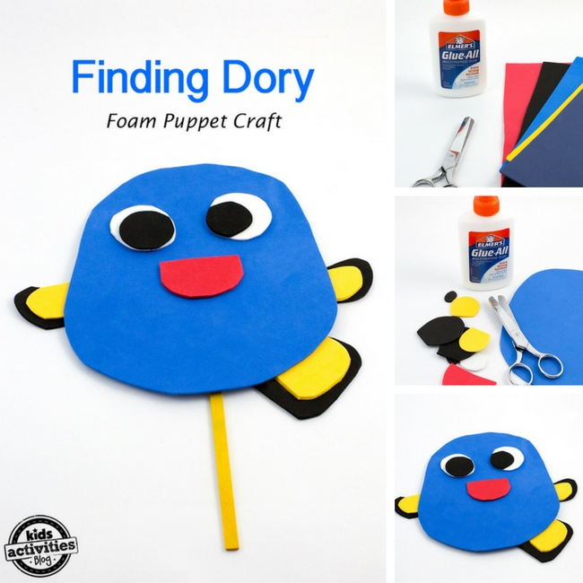 Finding Dory Puppet Craft for Kids