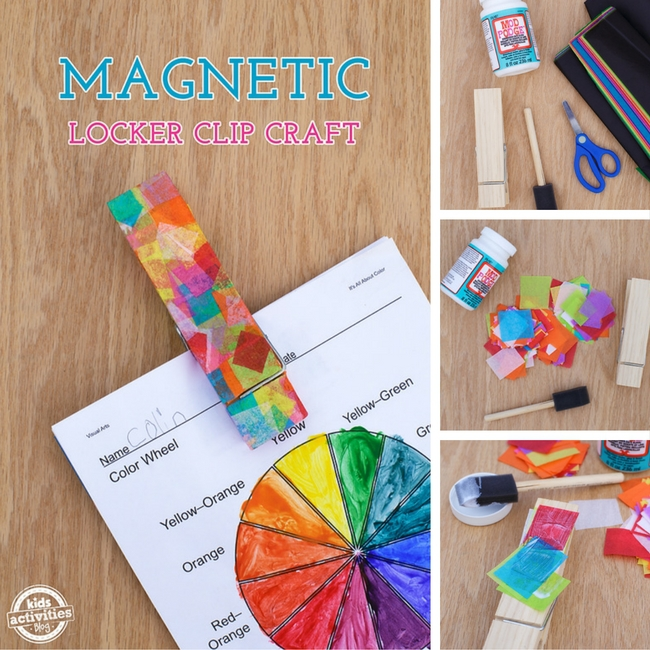 Magnetic Locker Clip Craft