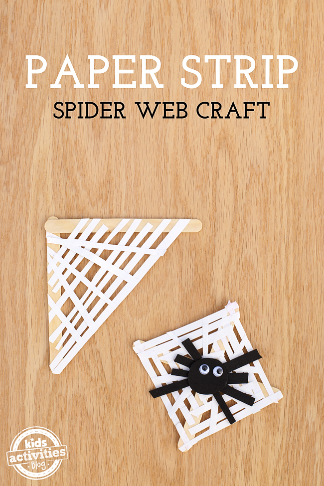 This Paper Strip Spider Web Craft is easy enough to make in a classroom, home, or daycare setting and helps develop fine-motor skills. Kids love it!