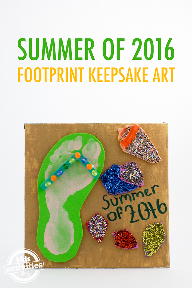 This Summer Sandal Keepsake Art is a fun way to remember all the fun your family had this summer! Perfect for kids of all ages!