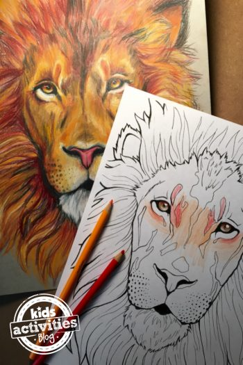 Amazing Free Printable Lion Coloring Page For Kids