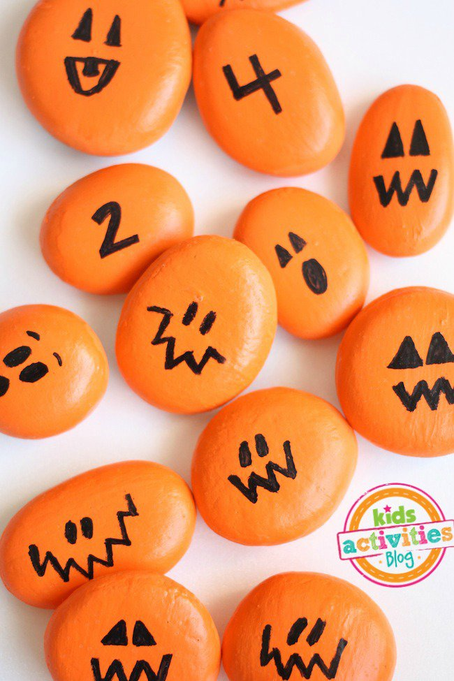 painted-pumpkin-rocks-for-play