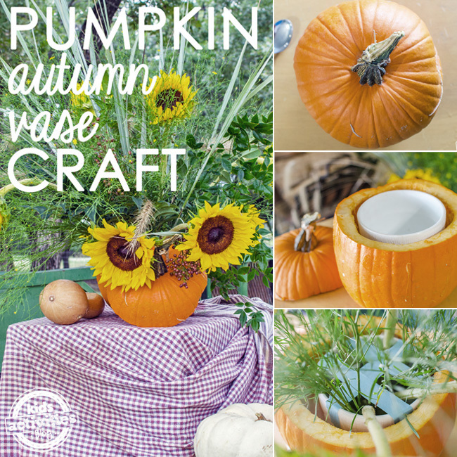 pumpkin autumn vase craft SQAURE