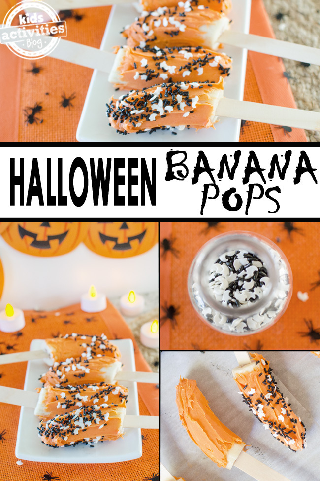 halloween banana pops