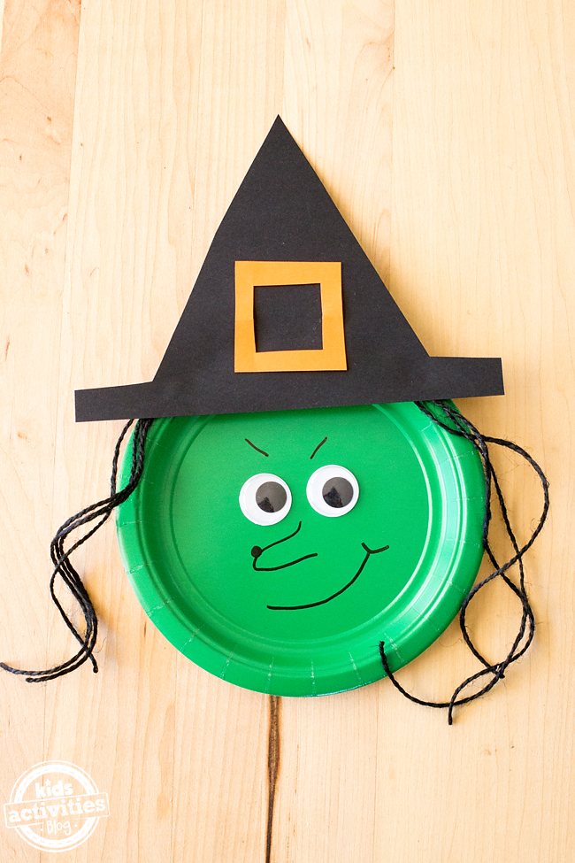 How to Make Paper Plate Witches – Fun Witch Craft!