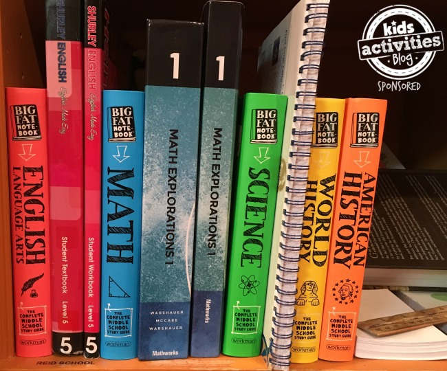 organize middle school textbooks