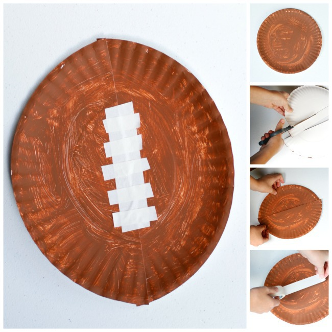 paper plate football craft for kids