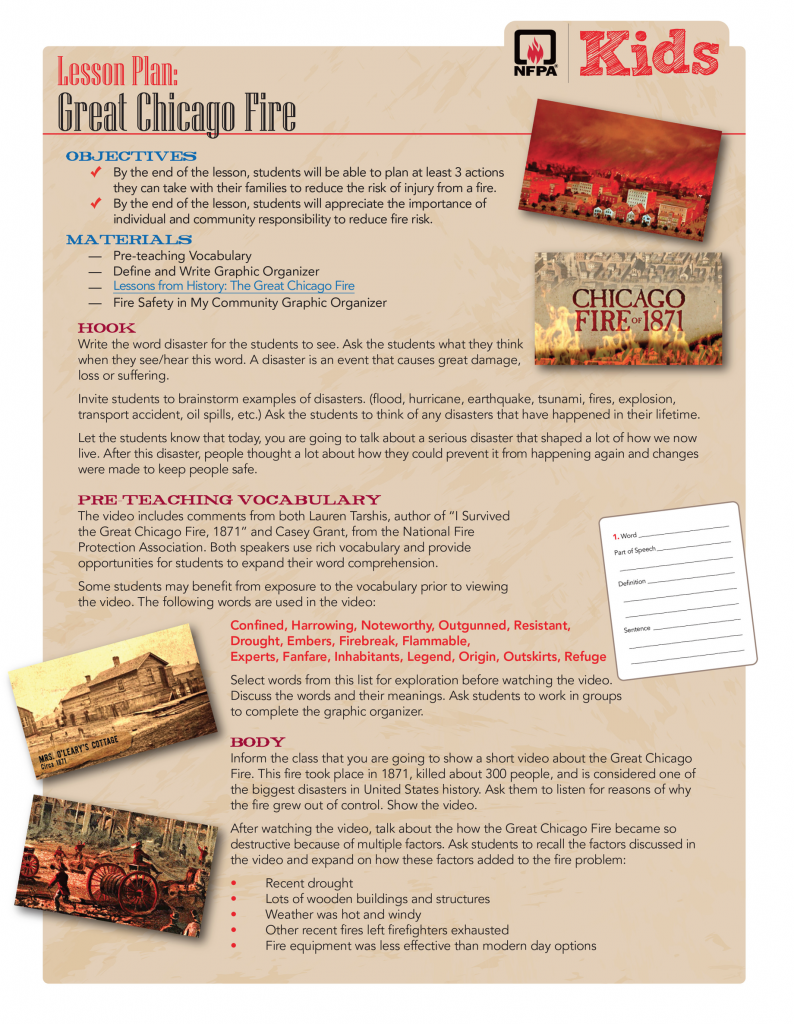 Chicago Fire lesson packet