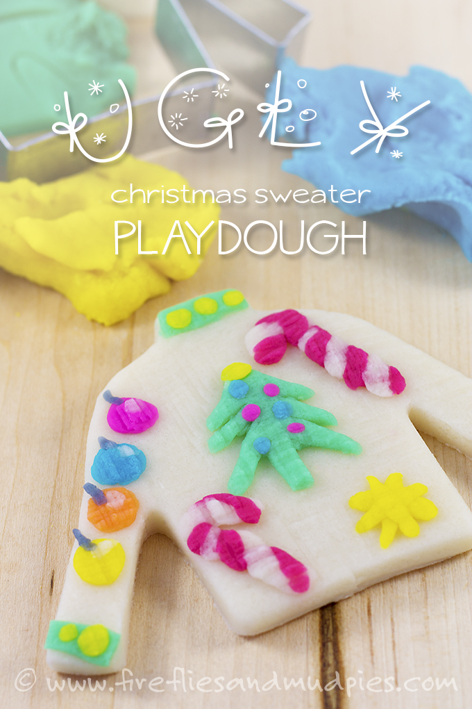 ugly christmas sweater play dough