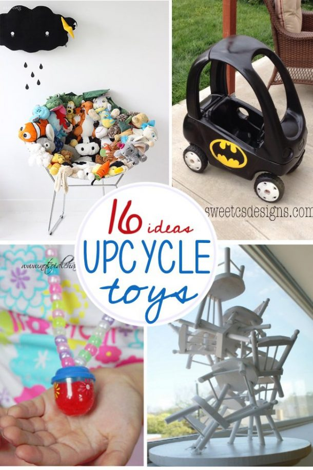 Screen free activities for preschoolers at home with slime and other upcycled toys.