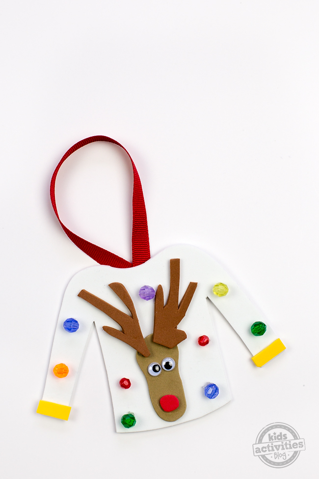 Make An Ugly Sweater Christmas Ornament Craft For A Fun Gift!