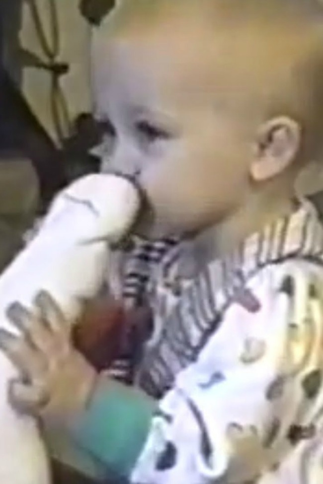 Little Girl Sniffs Dad's Sock, Cringes From The Smell…