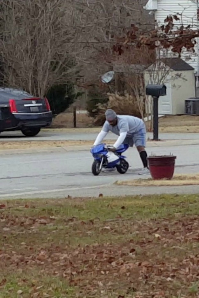 Man Test Rides Christmas Bike, Neighbor Catches It On Video